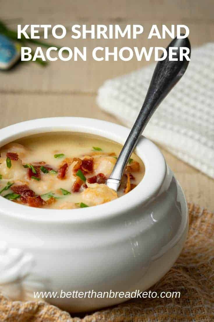 Keto Shrimp and Bacon Chowder