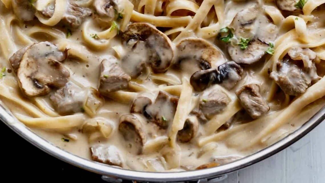 Image result for beef stroganoff with shirataki noodles
