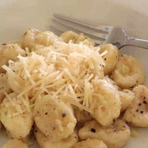 Keto Butter and Parmesan Gnocchi