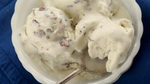 Delicious Keto Butter Pecan Ice Cream