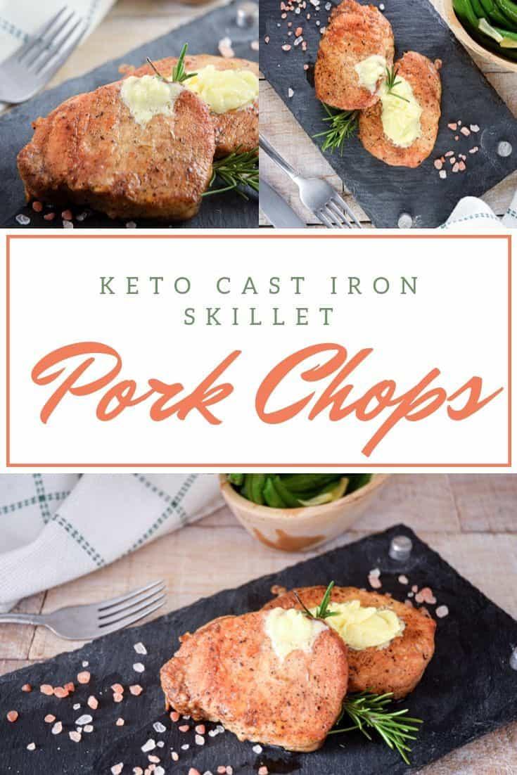Keto Cast Iron Skillet Pork Chops