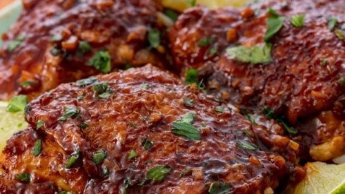 Sweet Slow-Cooker Keto Chicken Thighs