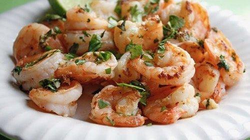Keto Garlic Cilantro Shrimp