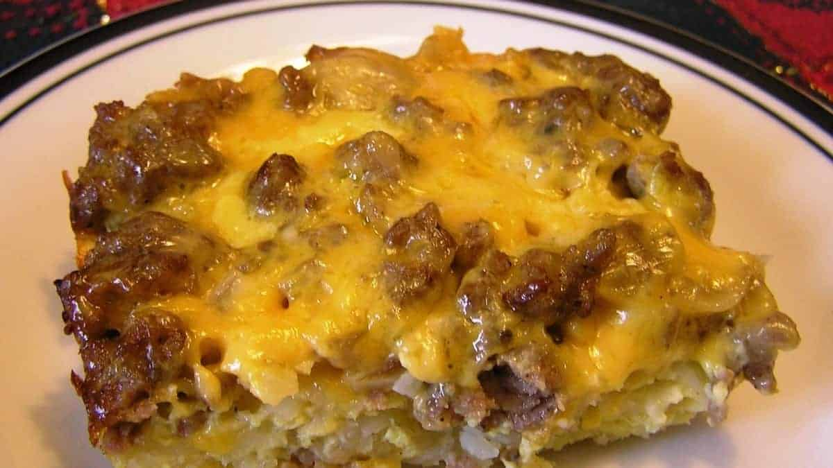 Keto Cheesy Sausage and Egg Bake