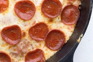 Quick Keto Skillet Personal Pizza
