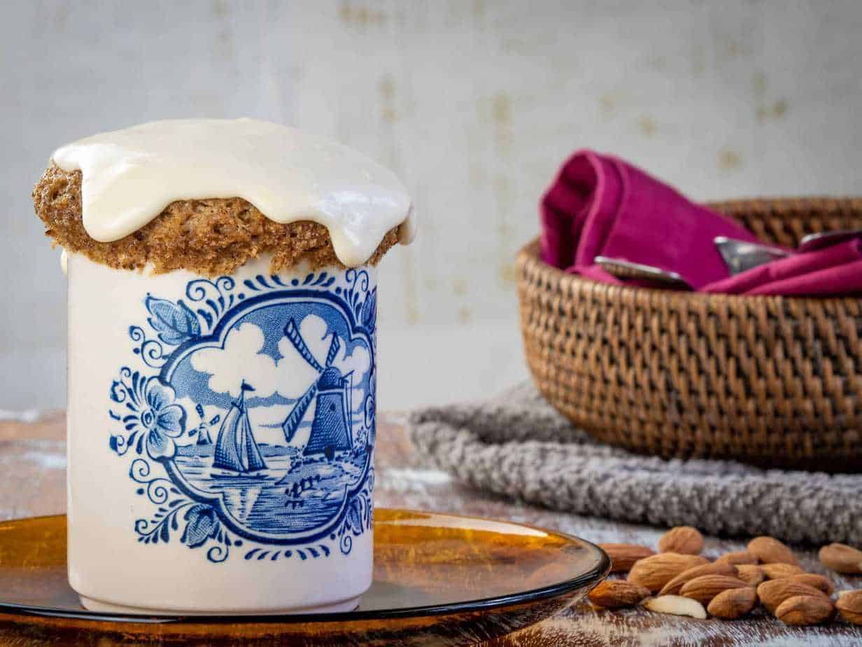 Keto Breakfast Cake Recipe: Keto Cinnamon Roll Mug Cake