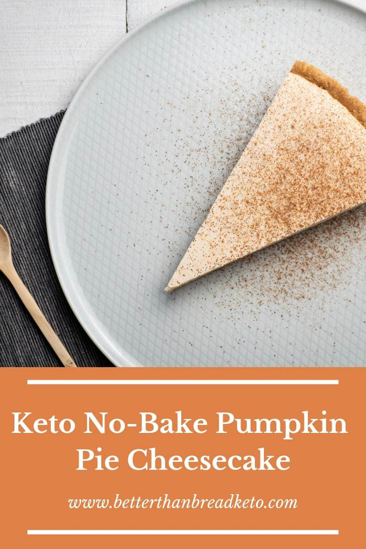 Keto No-Bake Pumpkin Pie Cheesecake