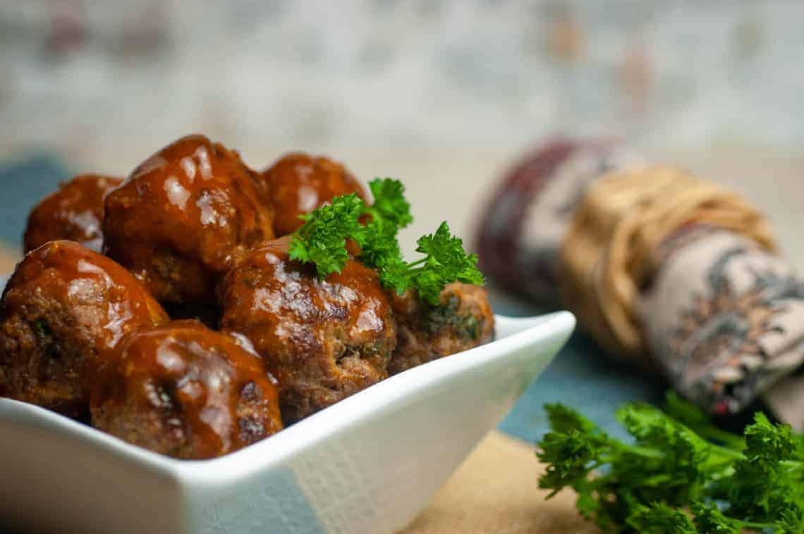 Keto Bacon Bourbon Meatballs