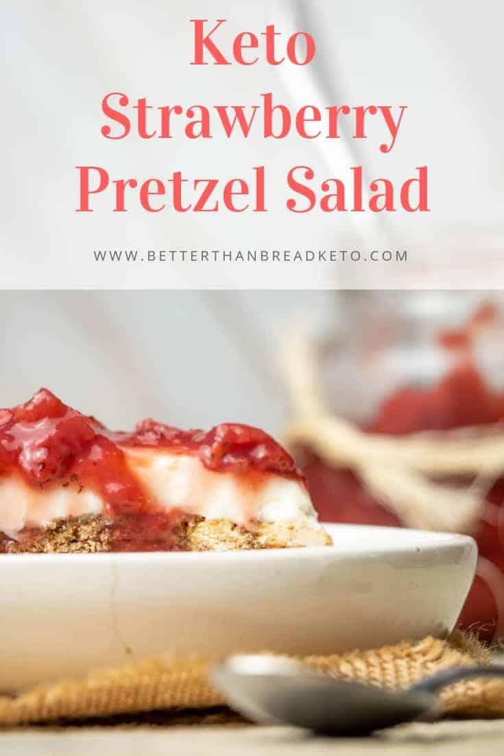 Easy Keto Strawberry Pretzel Salad