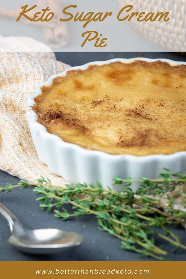Creamy Keto Sugar Cream Pie