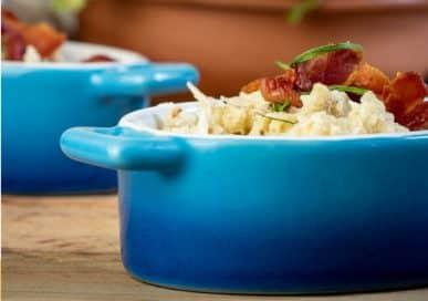 Keto Cheesy Bacon Fried Cauliflower Rice