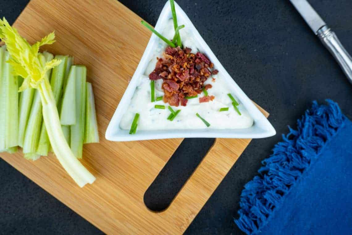 Keto Bacon Chive Cream Cheese Dip