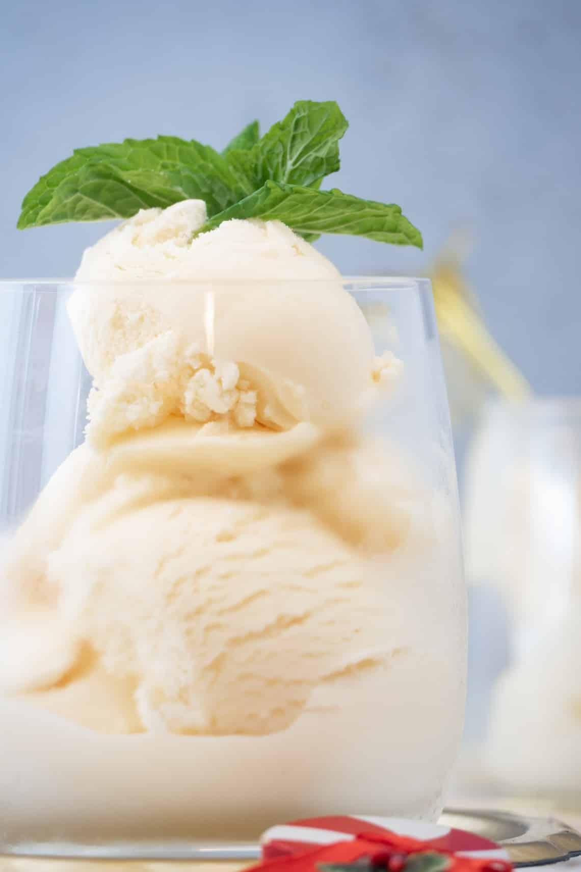 Keto Candy Cane Ice Cream