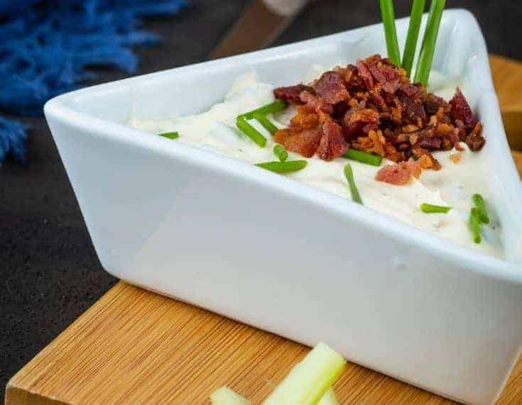 Keto Bacon Chive Cream Cheese Dip