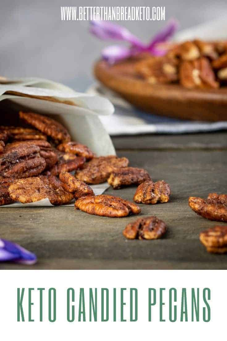 Delectable Keto Candied Pecans