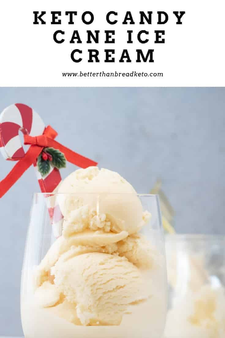 Keto Candy Cane Ice Cream