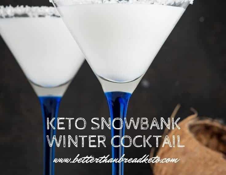 Keto Snowbank Winter Cocktail