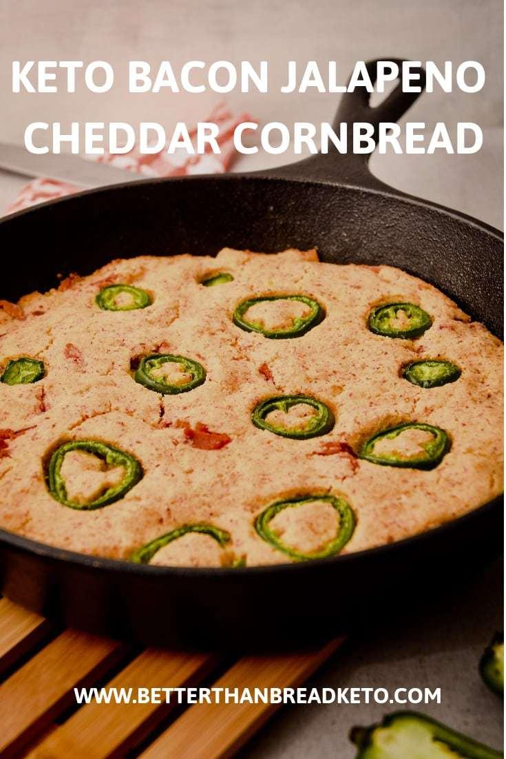 Keto Bacon Jalapeno Cheddar Cornbread