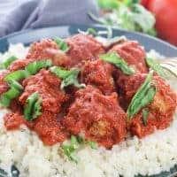 Keto Meatball Marinara Recipe