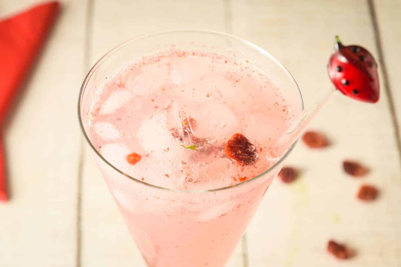 Low-Carb Cranberry Vodka Spritzer