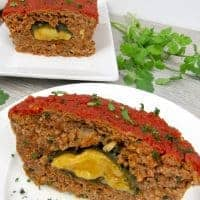 Poblano and Cheese Stuffed Meatloaf – Keto and Low Carb