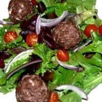 Keto Italian Meatball Salad