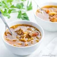 Cabbage Soup with Ground Beef