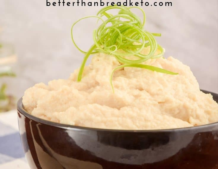 Keto Cheesy Cauliflower Mash