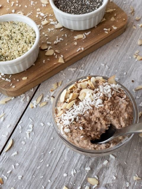 "Keto Peanut Butter and Chocolate Overnight ""Oats"""