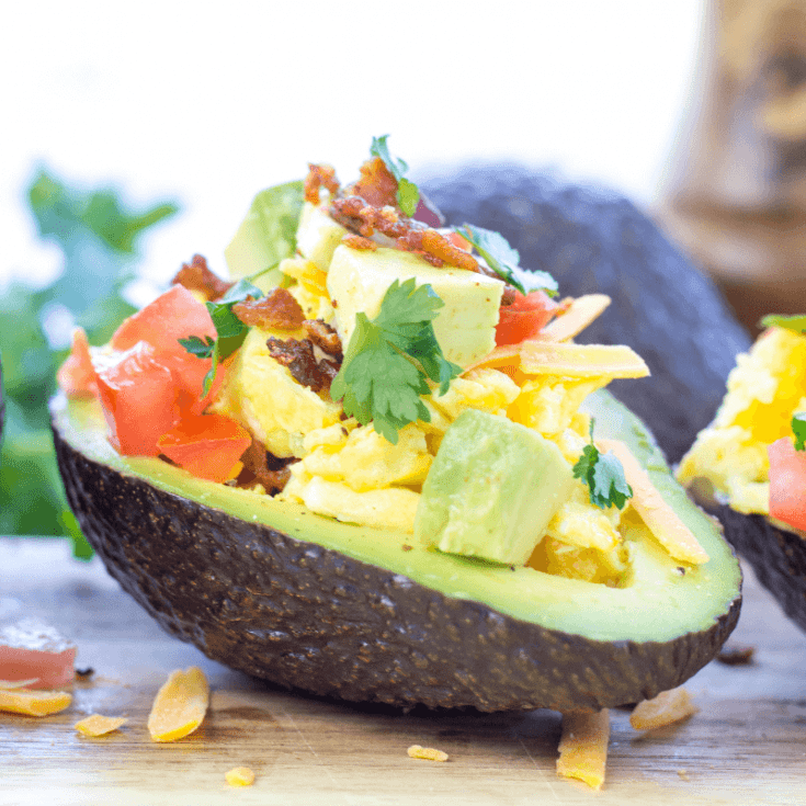 Low-Carb Avocado Breakfast Boats