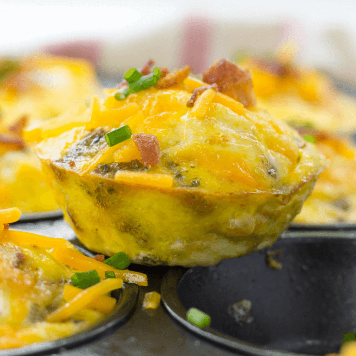 Low-Carb Meat Lovers Egg Muffins
