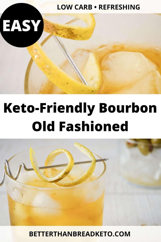 Keto-Friendly Bourbon Old Fashioned