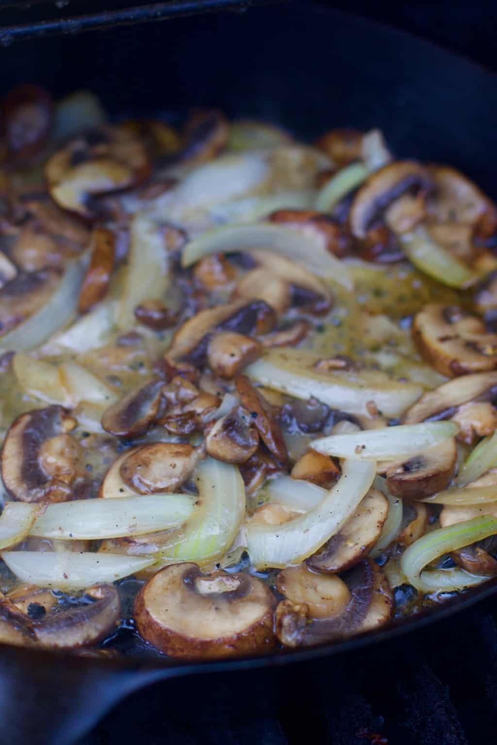 Keto Sautéed Mushroom and Onions