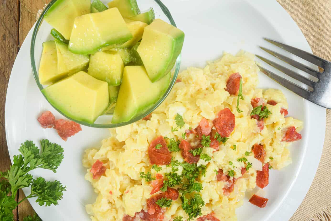 Keto Chorizo Eggs