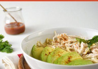 Keto Avocado Chicken Posole