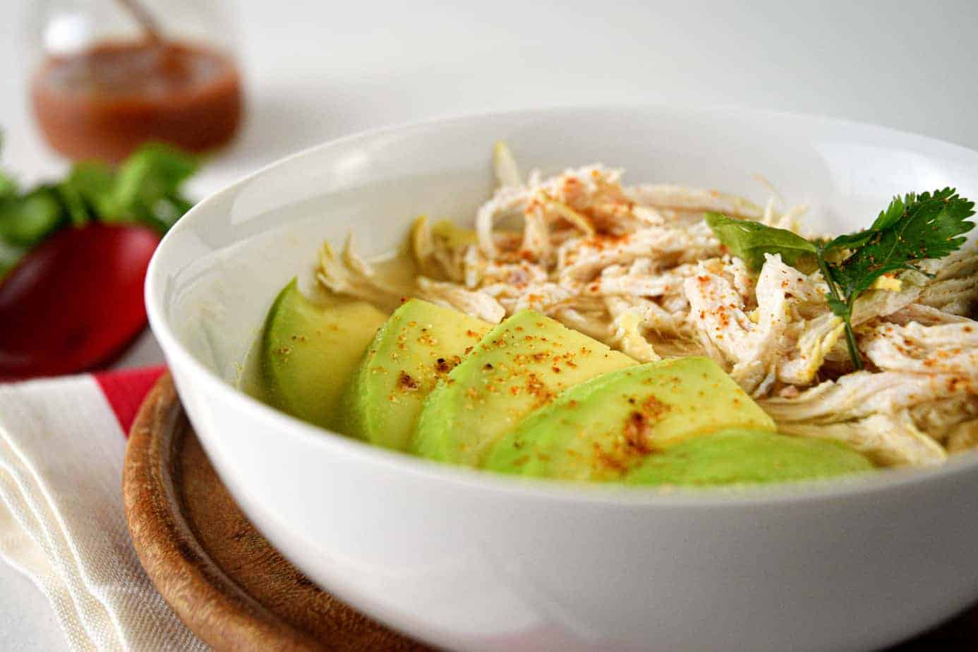 Keto Avocado Chicken Posole