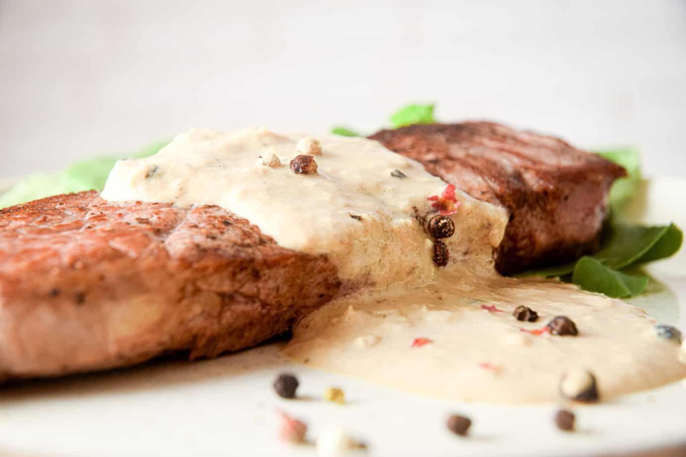 Keto Steak Au Poivre