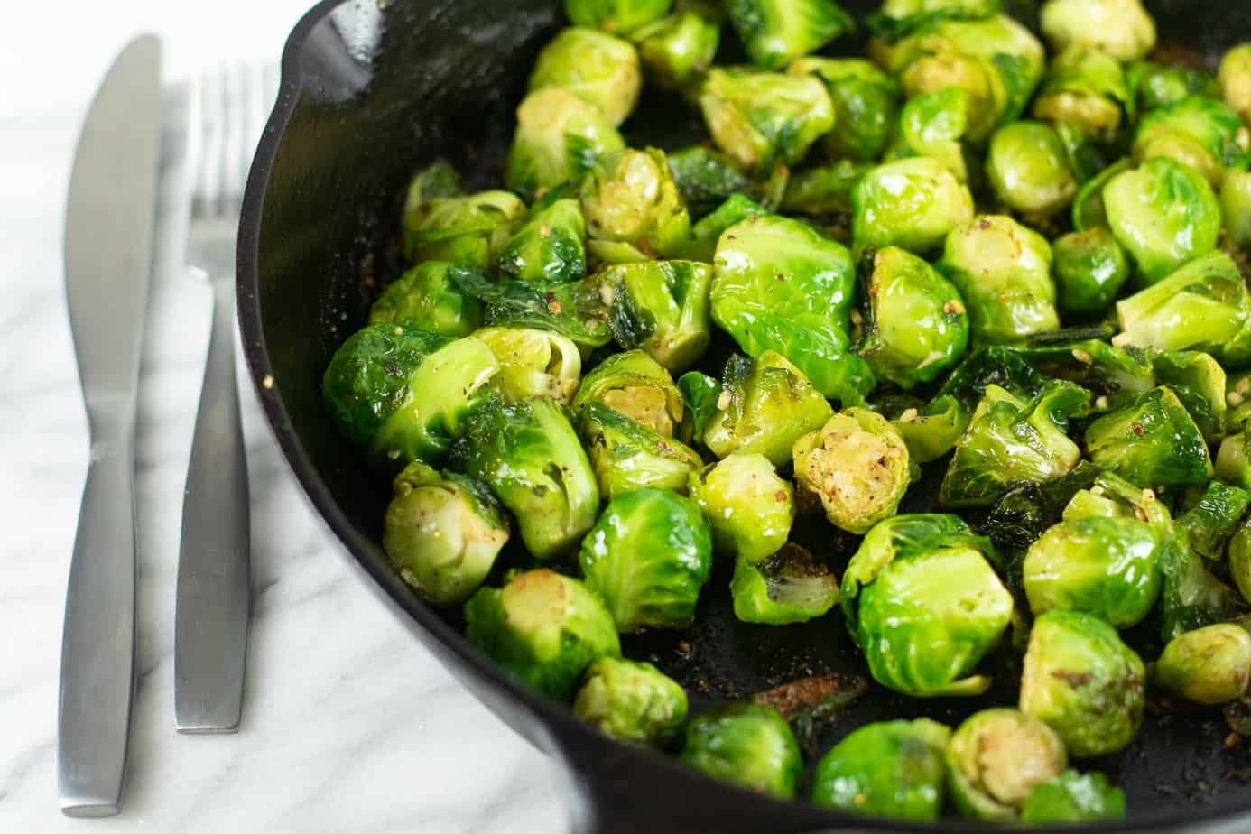 Keto Garlic Butter Brussel Sprouts