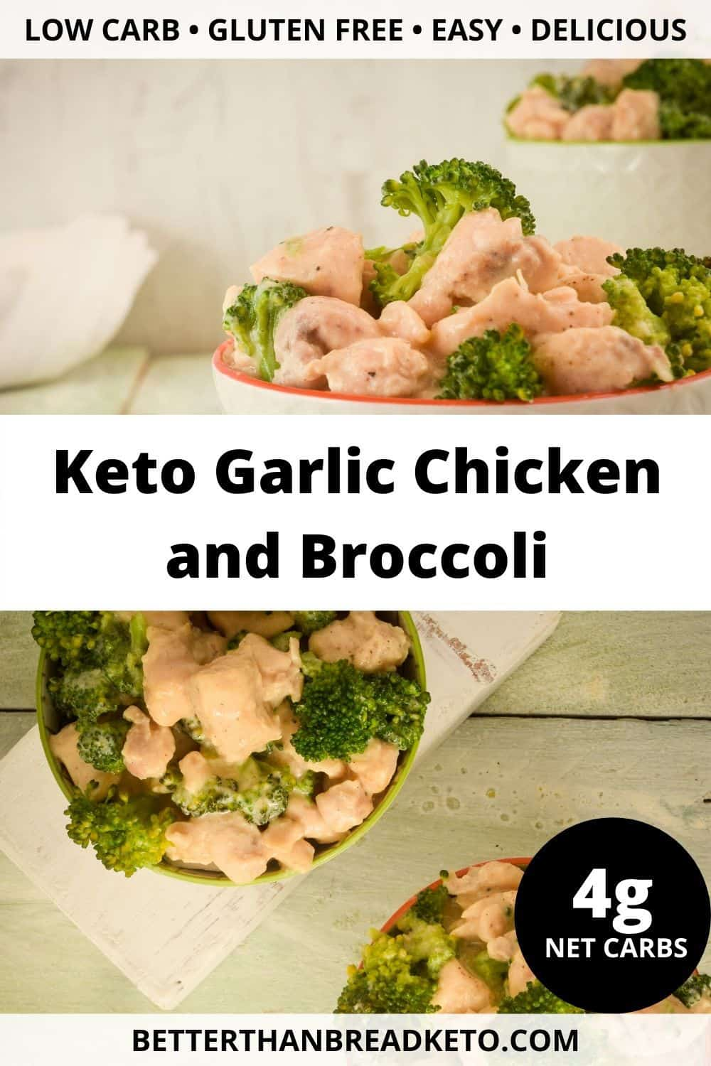 Keto Garlic Chicken and Broccoli