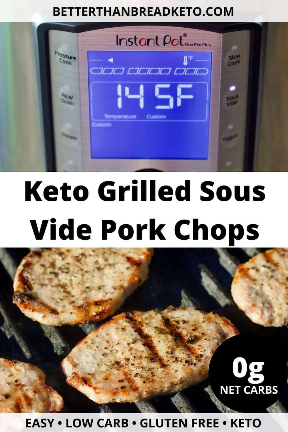 Keto Grilled Sous Vide Pork Chops