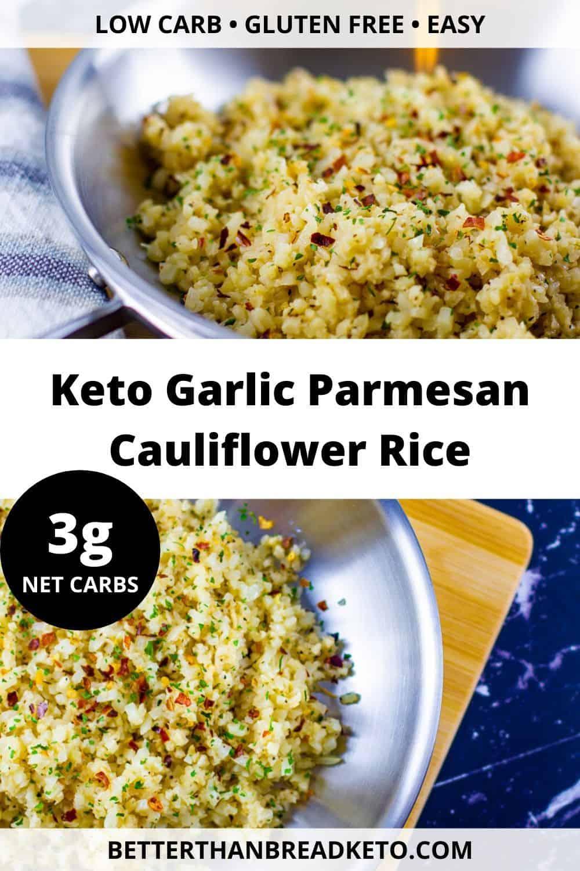 Keto Garlic Parmesan Cauliflower Rice