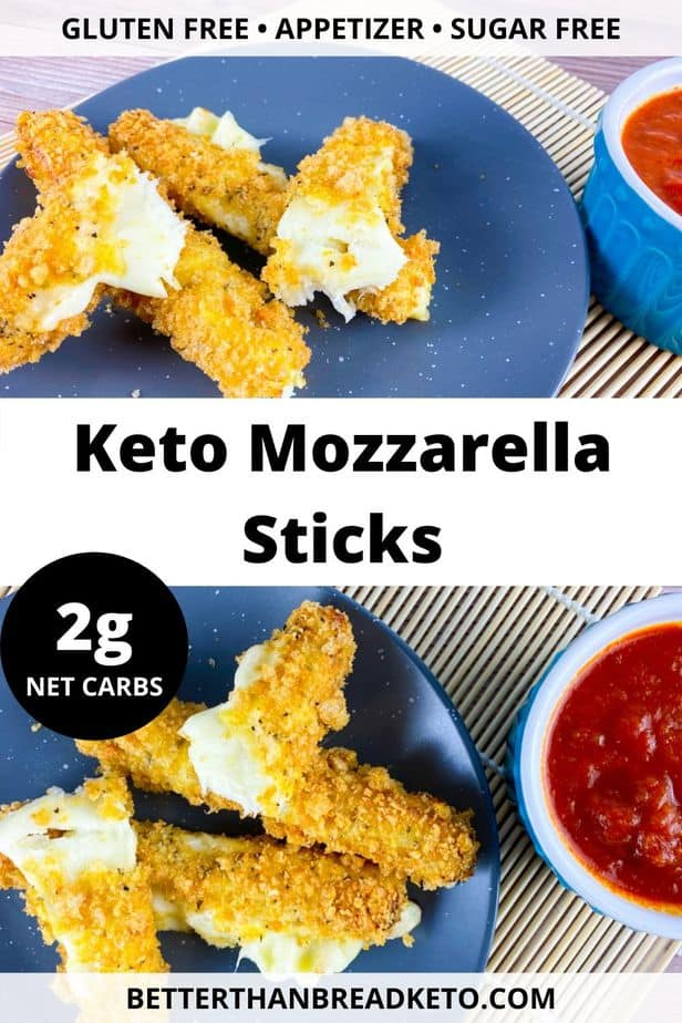 Keto Mozzarella Sticks